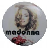 Madonna - 'Madonna White' Button Badge
